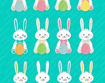 Easter bunny clipart Easter clip art Easter egg clipart Digital clip art Commercial use graphics Digital images Easter Bunny Clip art Rabbit