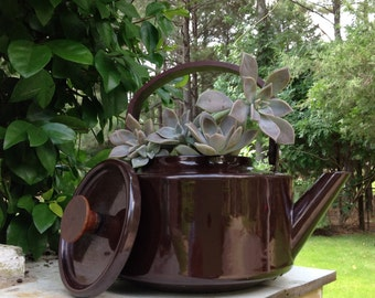 Vintage COPCO Kettle Planter - Michael Lax Design