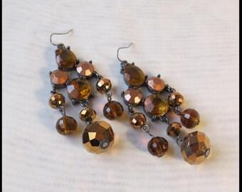 Citrine Earrings November birthstone earrings 1970s
