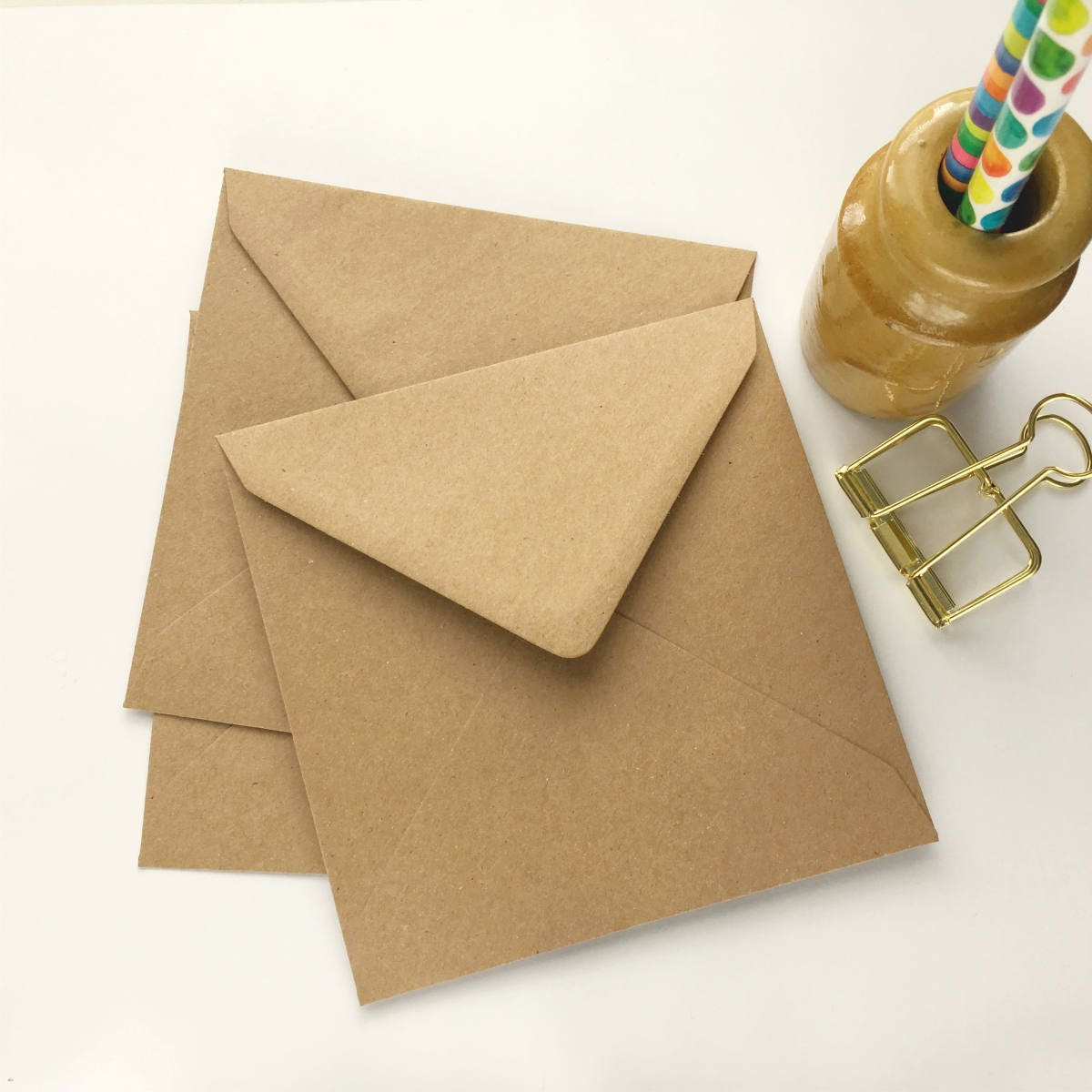 50 kraft envelopes 5 envelopes square envelopes recycled zoom kristyandbryce Choice Image