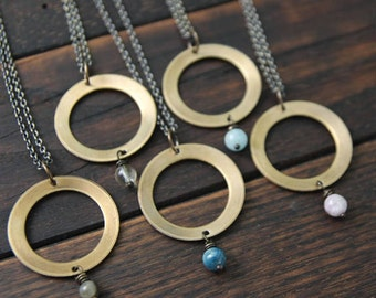 my soul mantra . intention circle necklace
