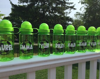 Personalized Soccer Water Bottles - BPA free- 15.2 ounces