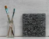 "Black painting, 6x6"", contemporary art, original painting, grey, gray, wall decor, Texture Painting, abstract art, USA, Australia"