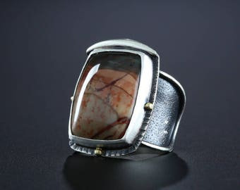 Morrison Ranch Jasper Ring, size 7.75