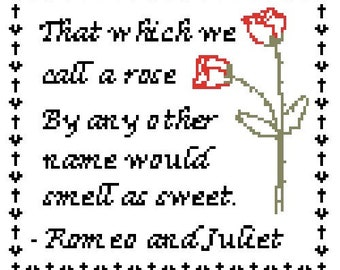 Romeo and Juliet counted cross stitch pattern