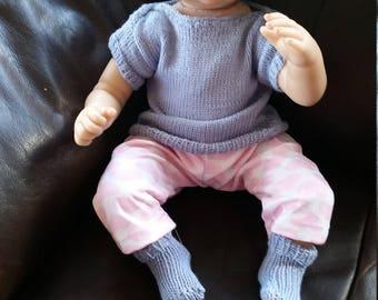 Merino Newborn Singlet/vest, hat and socks
