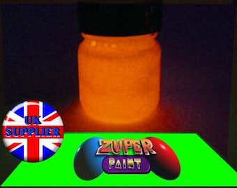 PREMIUM Zuperpaint Orange Glow In The Dark Paint 30ml