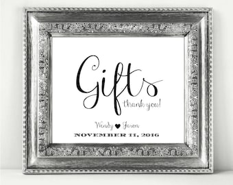 Gifts Personalized Wedding Sign Printable In A Stylish Font