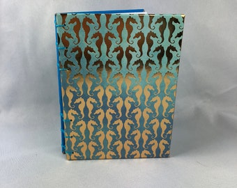 Gold Seahorse B6 Journal
