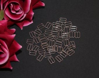 "10 pcs 12mm (1/2"") Silver Metal Sliders for Bramaking Bra Strap Camisole Lingerie Making"