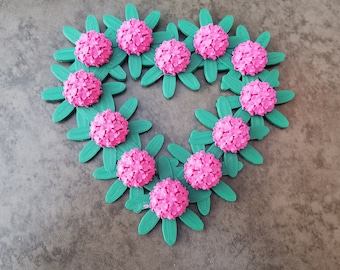 3D Printed Rhododendron Heart Hanging