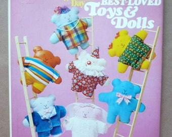 Toy And Doll Making Instructions - Book Of Best-Loved Toys & Dolls - Doll Designs - Activity Toys - Toys To Build - Pull Along Toys - 1982
