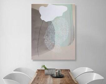 "Extra large wall art abstract art Minimalist large art, large vertical art, abstract painting, art livingroom, canvas art large 35x43"""
