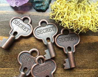 Secret Key - Skeleton Key -  Key - Engraved Secret Skeleton Key