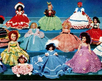 PDF Pattern Dolls Clothes/ Costumes Dolls of the Americas / Instant PDF Digital Download Vintage Crochet Pattern – B 5