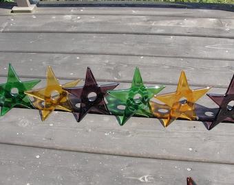 "Fused Glass Stars 6"""