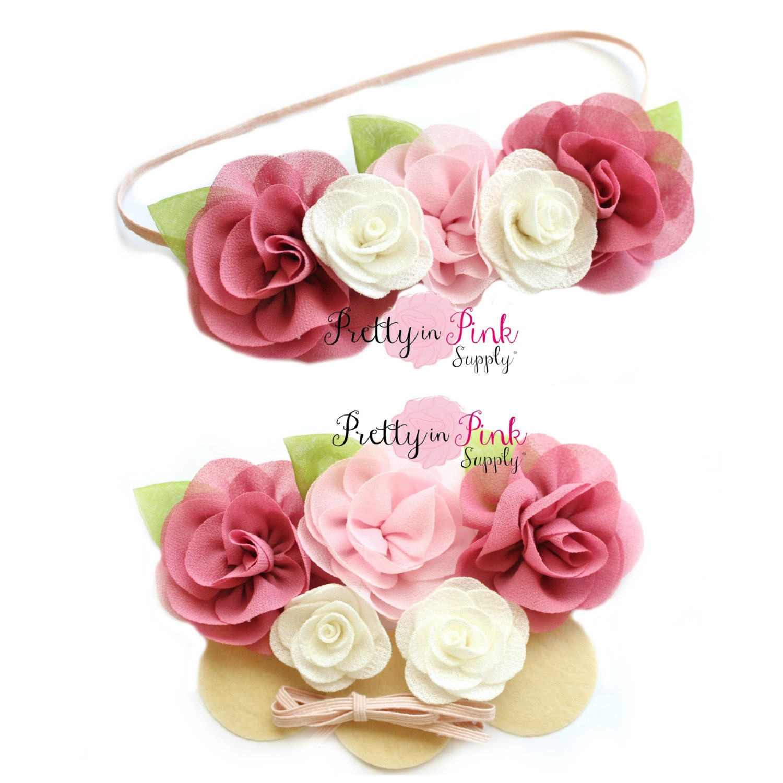 Light Pinkmauve Baby Flower Crown Diy Headband Kit 99 Baby
