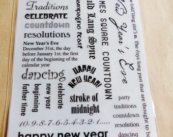rub - on new year new year New year's Eve party countdown resolution 31 decal transfer scratch stick