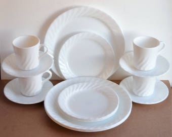 Set of 16 piece Corelle  Enhancements  Dinnerware by Corning/ 4 Place Table settings Corelle Dinnerware & Corelle by corning | Etsy