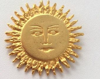 90's Gold Celestial Sun Pin