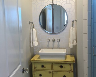 Antique Dresser BATH VANITY CABINET We Custom Convert From Furniture For  Your Victorian Farmhouse Renovation 14