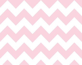 SALE Riley Blake Baby Pink Chevron Medium Sized- 1 yard  New Color for 2013