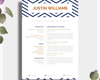 CV Template | Single Page Professional CV + Cover Letter + Advice |  Printable For Word
