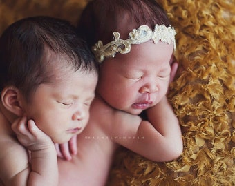 Aphrodite - White Cream Ivory Gold - OR CHOOSE Silver - Halo Headband Crown - Pearls - Girls Newborns Baby Infant Adults - Photo Prop