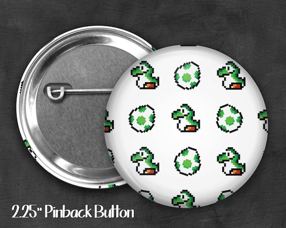 "Fandom 2.25"" Yoshi Pinback Button, Geek Button, Geekery, Button, Kawaii Button, Badges, Flare"
