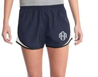 Navy Monogrammed Shorts, Personalized Running Shorts, Work Out Shorts, Gym Shorts, Monogrammed Running Shorts, Personalized Shorts