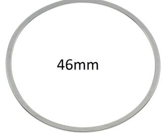 4 Pieces Stainless Steel Linking Ring Circle 46mm