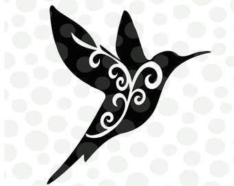 Hummingbird svg, png, pdf, bird svg, hummingbirds, svg files, flourish svg, spring svg