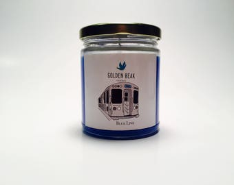 Blue Line Candle