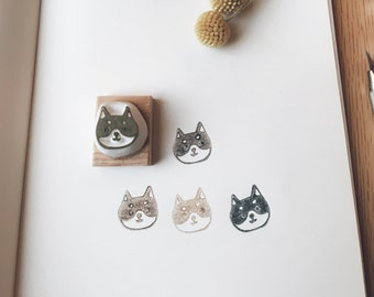 Little shiba inu hand-carved rubber stamp.puppy dog stamp.shiba inu.pet stamp.