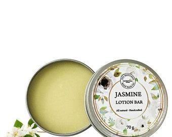 Jasmine Lotion Bar, Organic Lotion for Dry Sensitive Skin