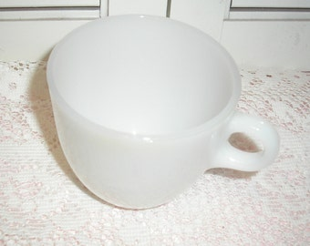 Vintage Fire King Milk White Glass Coffee Cup