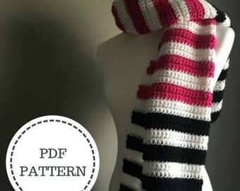 PATTERN for the Color Block Scarf | Modern Scarf | Crochet Pattern | Scarf Pattern | Crochet | Knitwear | Scarf |