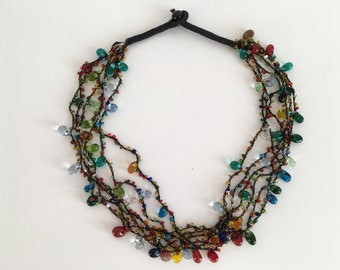 Multicolor necklace - Mexican Necklace - Handmade Jewelry