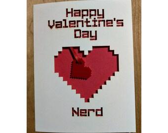 Happy Valentine's Day Nerd Card
