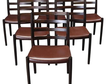 Set of Six Oak Dining Chairs by Niels O. Moller for J.L.Moller