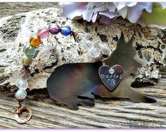 Rainbow Bridge German Shepherd Ornament, German Shepherd Memorial, German Shepherd Remembrance, Custom German Shepherd Gift, Loss of GSD