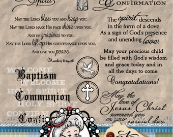 Child of God, Baptism, Communion, Confirmation, Digital Stamps, Digi, Word Art, Sentiments, Photography Overlay ID:NV-WA0052 By Nana Vic