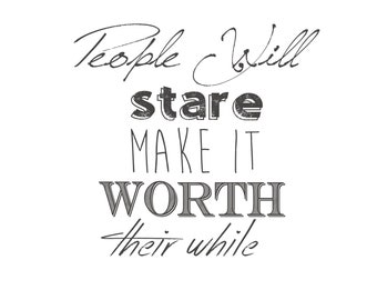 People Will Stare Digital Download