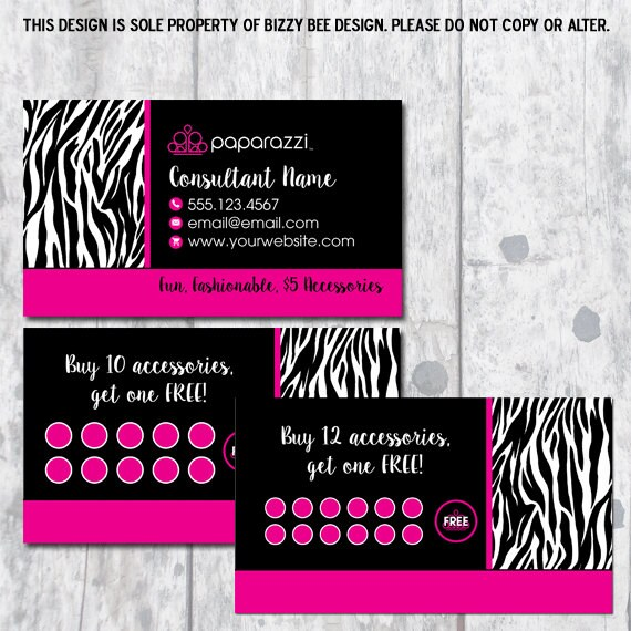 Paparazzi Jewelry Business Card Digital Download - Paparazzi business card template