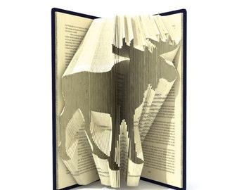 Book folding pattern - MOOSE - 218 folds + Tutorial with Simple pattern - Heart - AN1006