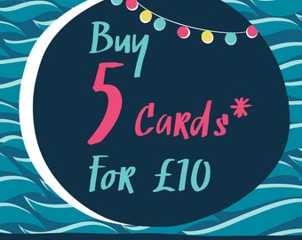 Five Fab Cards for a Tenner!