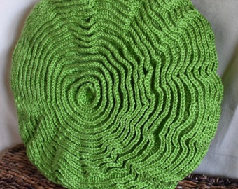 Rounds of Ruffles Pillow - Green