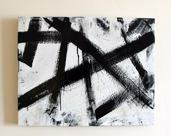 Black & White Modern Art Painting