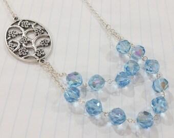 Sky Blue Crystal Necklace
