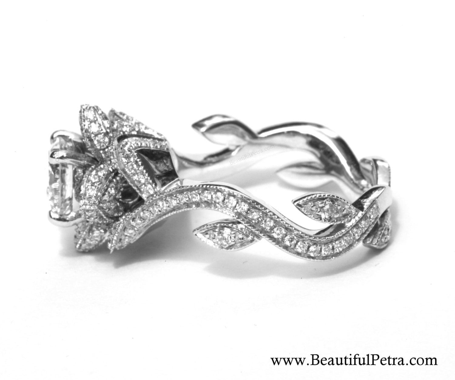 lotus rings pin engagement diamond ring flower pinterest jewels